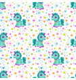 seamless pattern with cute cartoon little unicorn vector image vector image