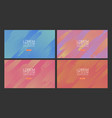 set abstract colorful gradient background and vector image vector image