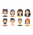 set asian men and women in different looks vector image vector image