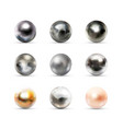 set nine realistic spherical 3d orbs made from vector image vector image