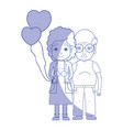 silhouette old coupe people with glasses and vector image vector image