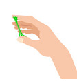 sticky slime reaching for stuck by the hand vector image vector image