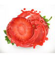 strawberry fresh fruit 3d realism icon vector image vector image