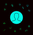 symbol of user icon in circle profile icon vector image