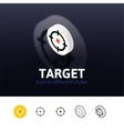 Target icon in different style vector image vector image