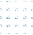 thumb up icon pattern seamless white background vector image vector image