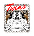 twins hand drawn twins vector image vector image