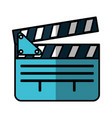video clapperboard isolated icon vector image