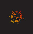 whatsapp icon design vector image