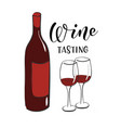 wine tasting banner design template vector image vector image