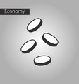 black and white style icon coins vector image