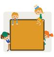 Kids frame notice vector image