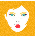 young woman face portrait in colorful make up vector image