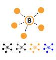 bitcoin network icon vector image