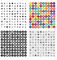 100 kids activity icons set variant vector image vector image