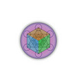 3d metatrons cube flower life sacred geometry