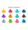 3d style bullet points numbers from one to twelve