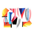 abstract background with different vector image vector image
