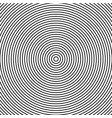 abstract concentric circles texture in black and vector image