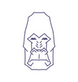 abstract gorilla head lineart on white backround vector image vector image
