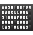 Airport information board vector image vector image
