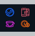 audit espresso and phone communication icons usd vector image
