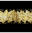 background of gold sparkles vector image vector image
