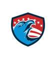 Bald Eagle Head American Stars and Stripes Shield vector image vector image