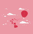 balloon love vector image