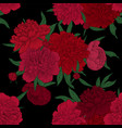 beautiful seamless pattern red pink peonies with vector image vector image