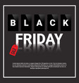 black friday sale special offer banner with copy vector image vector image