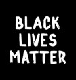 black lives matter poster social media content vector image