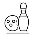 bowling recreation icon outline style vector image vector image