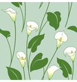 Calla lily pattern vector image vector image