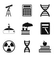 chemical pollution icons set simple style vector image vector image