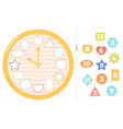 children clock puzzle game educational time vector image vector image