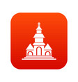 church icon digital red vector image vector image