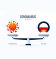 coronavirus or poland creative concept scales vector image