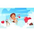 cupid in clouds composition vector image