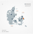 denmark infographic map vector image vector image