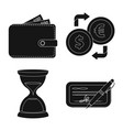 design of bank and money icon collection vector image vector image