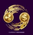 digital currency money exchange ripple vector image vector image