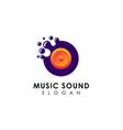 dots music sound logo design vector image
