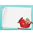 Elve and paper sheet vector image vector image