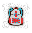 english backpack cartoon vector image vector image