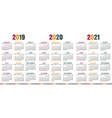 english calendar 2019 - 2021 vector image vector image