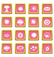 explosion icons pink vector image vector image