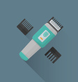 flat hairclipper icon vector image