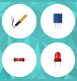 flat icon device set of recipient receptacle vector image vector image