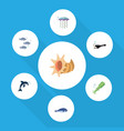 flat icon sea set of cachalot fish playful fish vector image vector image